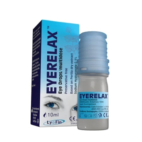 Lyofin EyeRelax Eye Drops with Sodium Hyaluronate, 10ml