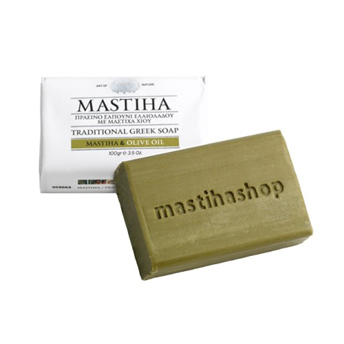 Mastihashop Chios Traditional Greek Olive Oil Soap with Chios Mastiha 100g