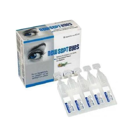 Demo Newsepteyes Single Dose Eye Drops with Sodium Hyaluronate and Chamomile, 30x0.5ml