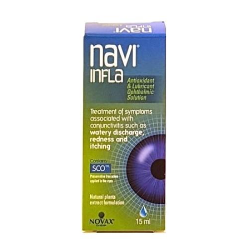 Kite Hellas Navi Infla Eye Drops Antioxidant & Lubricant Ophthalmic Solution 15ml