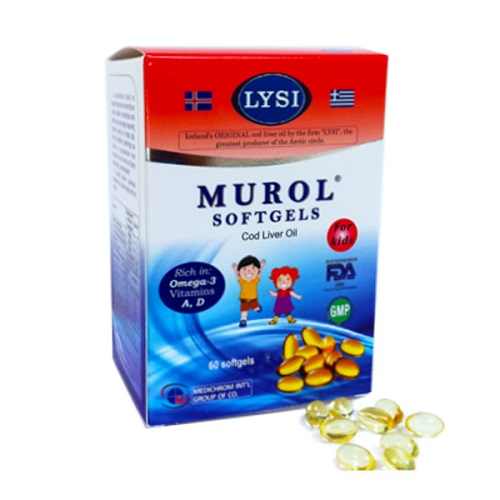 Medichrom Murol Cod Liver Oil for Kids 60soft gels