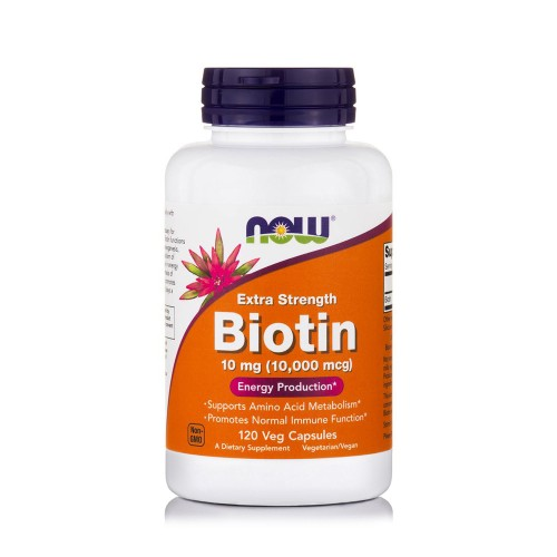 Now Foods Biotin 10mg (10,000 mcg) Extra Strength 120veg caps