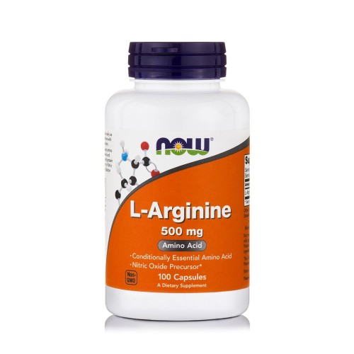 Now Foods L-Arginine 500mg 100caps