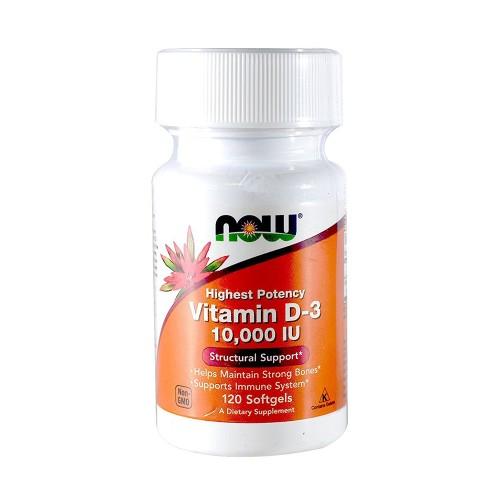 Now Foods Vitamin D3 10.000 IU 120 Softgels