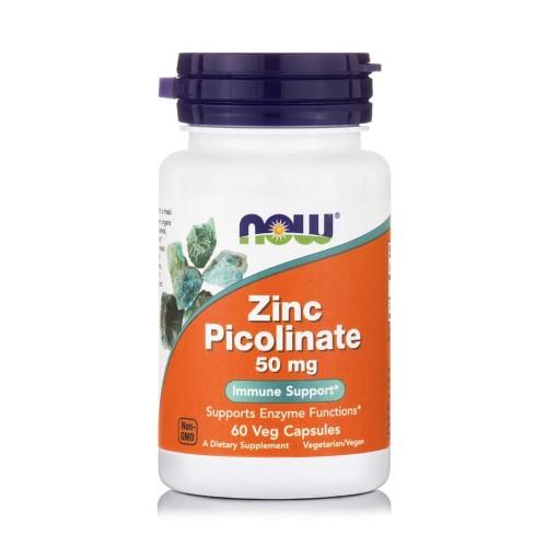 Now Foods Zinc Picolinate 50mg 60veg caps