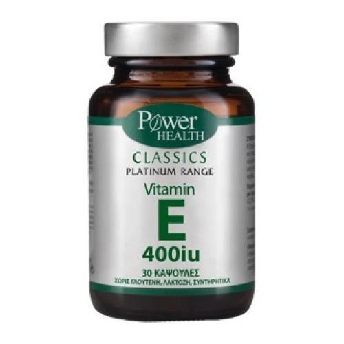 Power Health Classics Platinum Vitamin E 400iu 30 κάψουλες