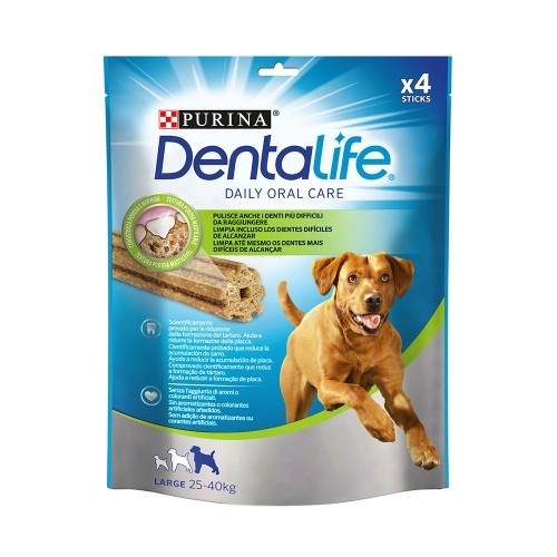 Purina DentaLife Daily Oral Care Chew Treats for Large Dogs (25-40 kg) 4 Sticks 142g