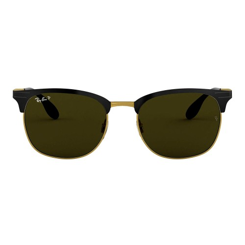 RayBan Clubmaster Metal Polarized Unisex Sunglasses RB3538 187/9A 53