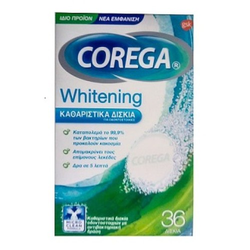 Corega Whitening 36 tablets
