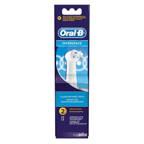 Oral-b Interspace Electric Toothbrush Brush Heads 2pcs