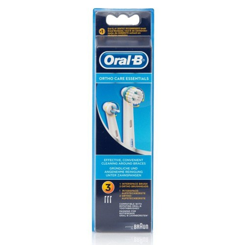 Oral-b Ortho Care Essentials Electric Toothbrush Brush Heads 3pcs