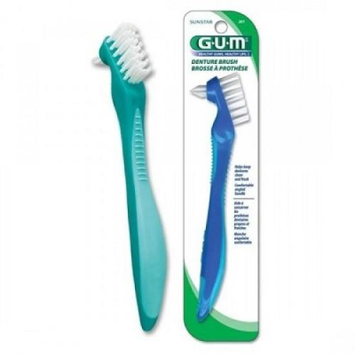 GUM 201 Denture Brush Toothbrush for Artificial Denture