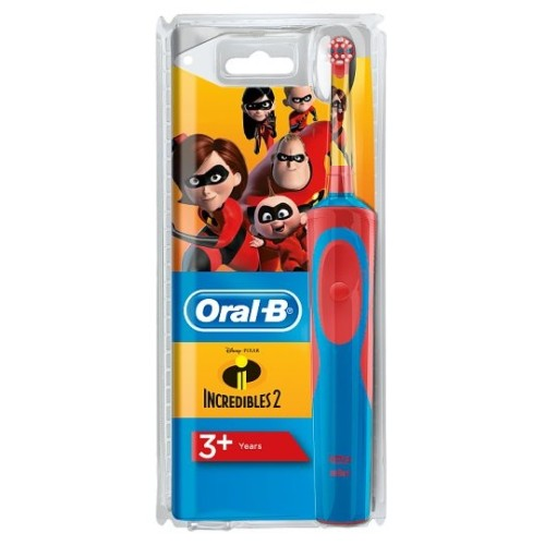 Oral-B Kids Stages Power Disney Incredibles 3+ Kids Electric Toothbrush, 1pcs
