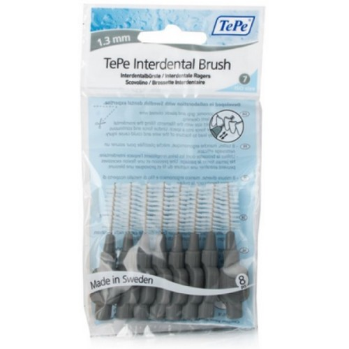 TePe Intermediate Gray Brushes 1.3mm (8 Pcs)