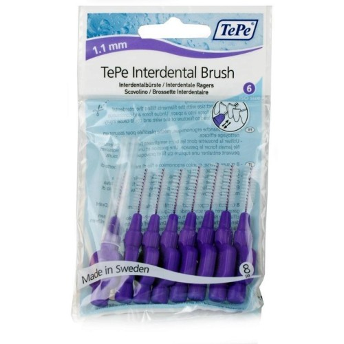TePe Intermediate Purple Brushes 1.1mm (8 Pcs)