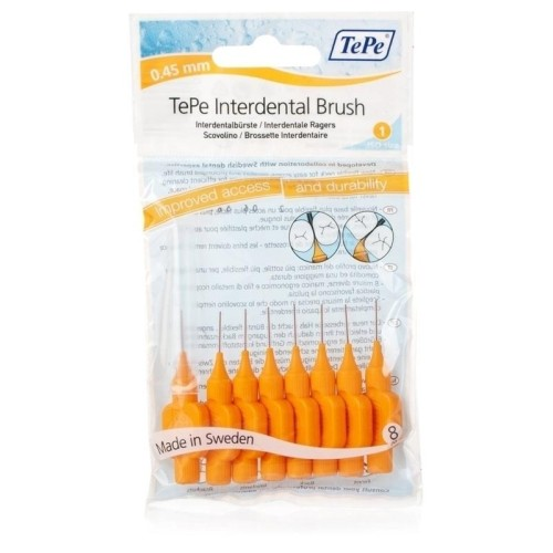 TePe Intermediate Brushes Orange 0.45mm (8 Pcs)