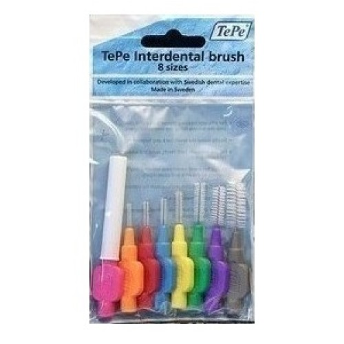 TePe International Brush All Sizes 8pcs