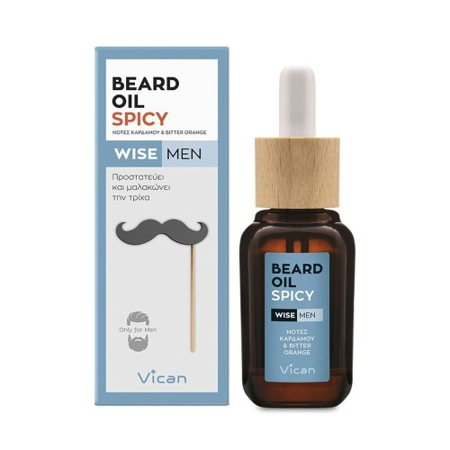 Vican Wise Men Beard Oil Spicy - Protects and Softens the Beard 30ml