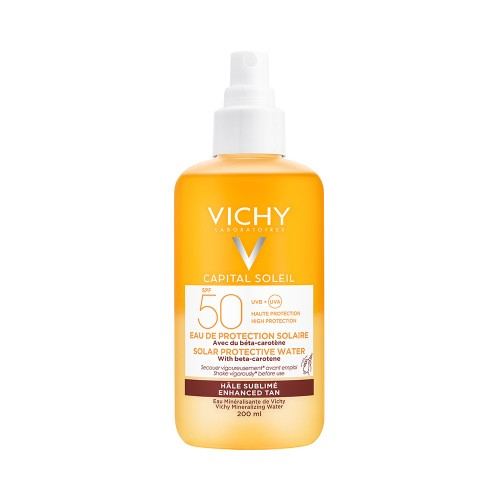 Vichy Capital Soleil Solar Protective Water with Beta Carotene SPF50+ 200ml