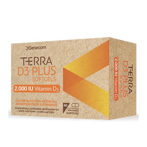 Genecom Terra D3 Plus 2000 IU 60 Softgels
