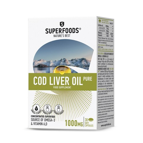 Superfoods Cod Liver Oil Pure 1000mg 30soft caps