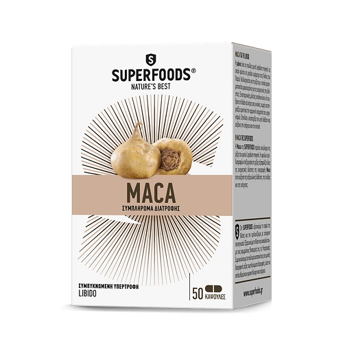 Superfoods Maca for Increasing Libido in Men and Women, 50caps