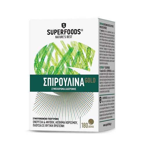Superfoods Spirulina Gold 300mg, 180 Tablets