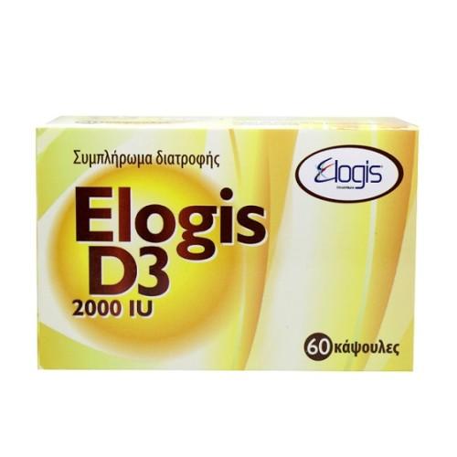 Elogis Pharma Vitamin D3 2000iu 60 capsules