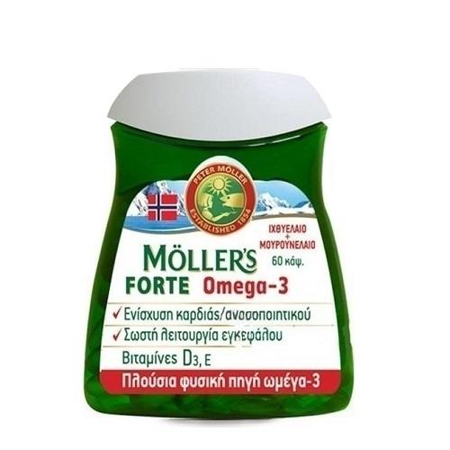 Moller's Forte Omega-3 Corn Oil, 60caps