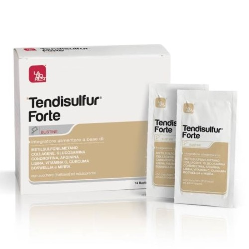 Tendisulfur Forte Nutritional Supplement for Normal Collagen Formation, 14 sachets