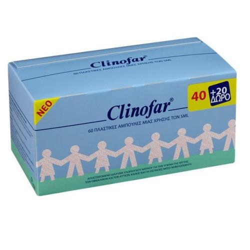 Omega Pharma Clinofar Sterilized Saline 60x5ml