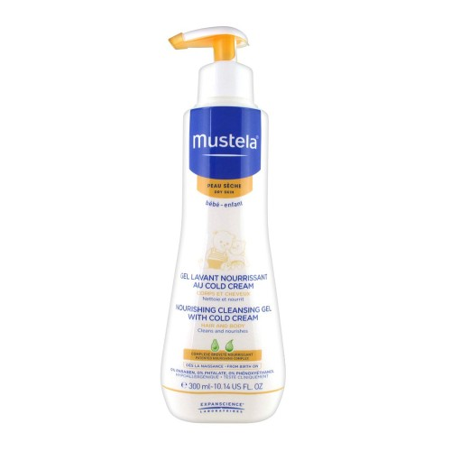 Mustela Nourishing Cleansing Gel with Cold Cream-Dry Skin 300ml