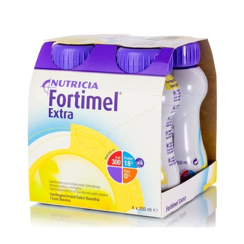 Nutricia Fortimel Extra High Protein Drink with Vanilla Flavor 4x200ml