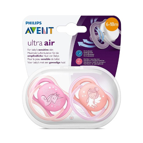 Philips Avent SCF345/22 Ultra Air Silicone Pacifier 6-18m Girl 2pcs