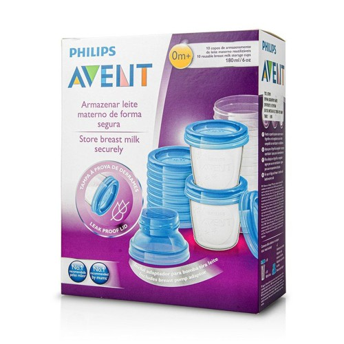 Philips Avent SCF618/10 Breast Milk Storage Cups 10x180ml