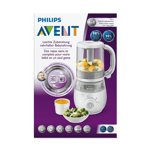Philips Avent SCF883/01 Healthy Baby Food Maker 4-in-1