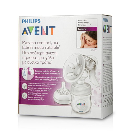 Philips Avent SCF330/20 Manual Breast Pump with Bottle