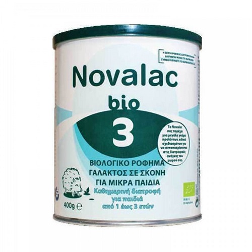 Novalac Bio 3 Organic Milk Powder for Children from 1 to 3 Years 400gr