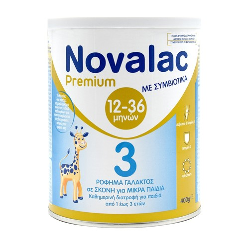 Novalac Premium 3 Vanilla Milk Powder for Children over 1 Year, 400gr