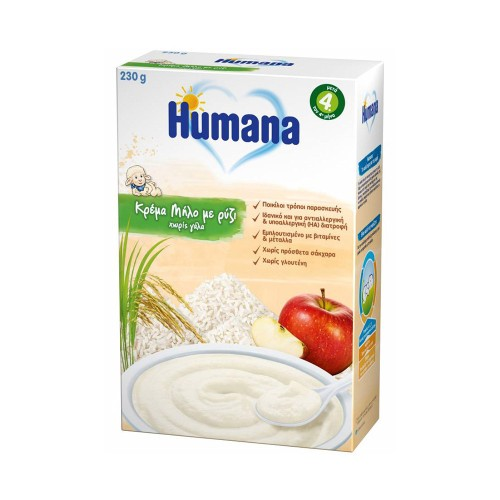 Humana Baby Cream Apple with Rice without Milk 4m+ 230g