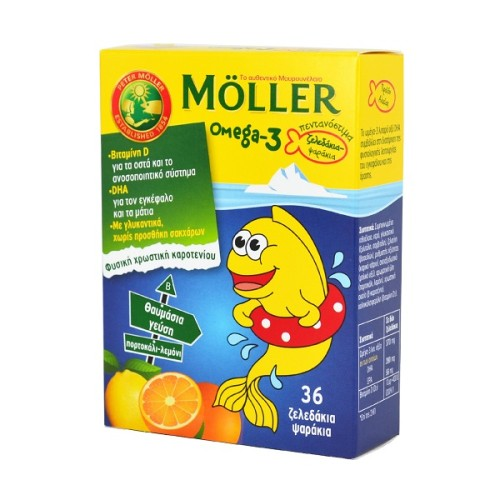 Moller's Omega 3 for Kids 36 jellies Orange Lemon