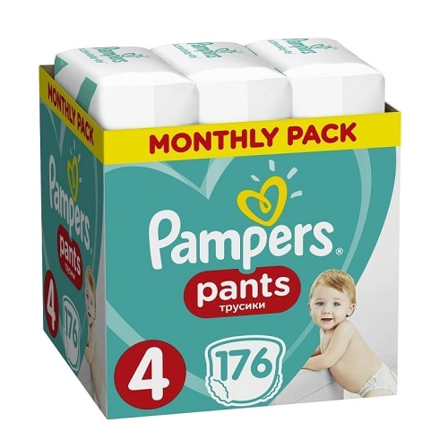 Pampers Monthly Pack Pants No 4 (9-15kg) 176pcs