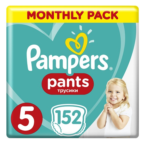 Pampers Monthly Pack Pants No 5 (12-17kg) 152pcs