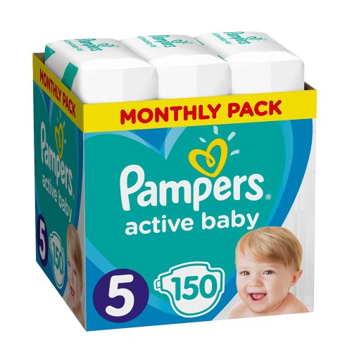 Pampers Active Baby Monthly Pack No5 (11-16kg) Baby Diapers 150pcs