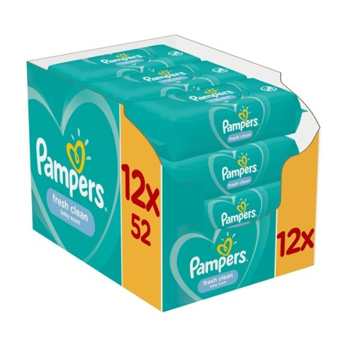 Pampers Fresh Clean Baby Wipes Monthly Box (12x52) 624pcs
