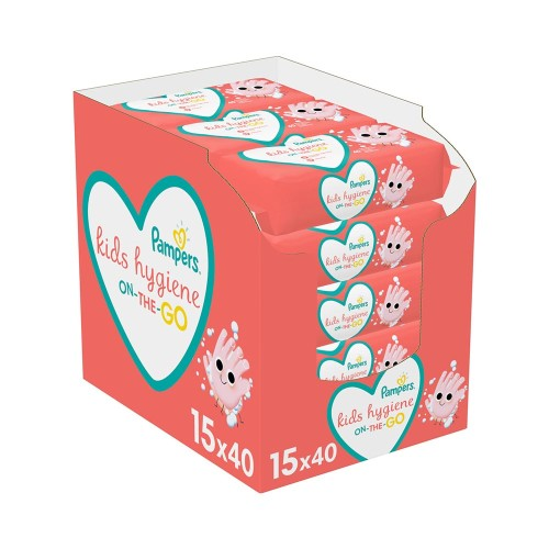 Pampers Hygiene On-The-Go Wipes (15x40) 600pcs