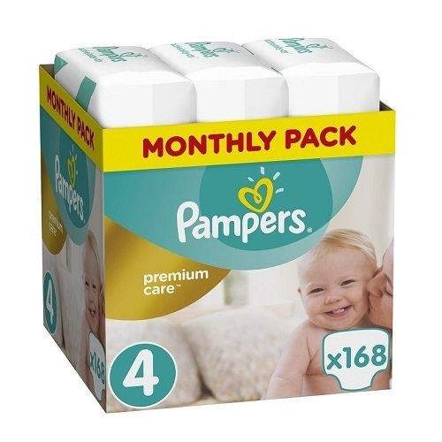 Pampers Premium Care Monthly Pack No. 4 (9-14Kg) 168pcs
