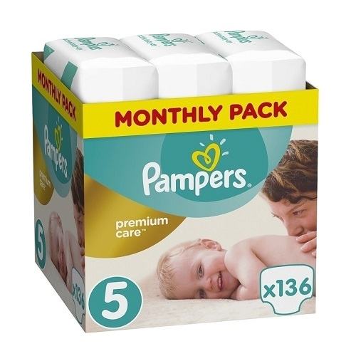 Pampers Premium Care Monthly Pack No. 5 (11-16kg) 136pcs