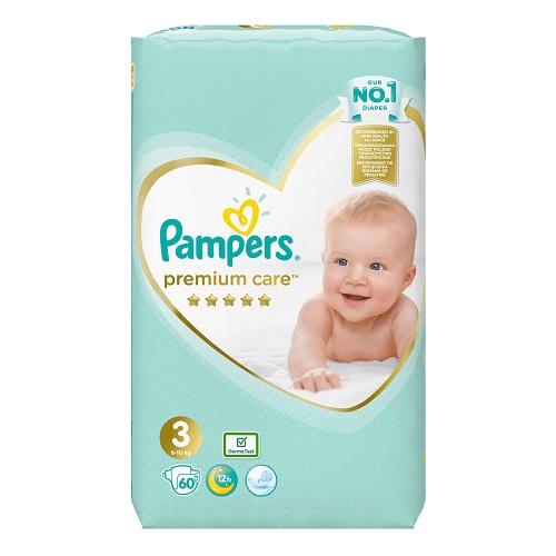 Pampers Premium Care No 3 (6-10kg) 60 pcs