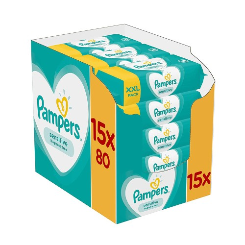 Pampers Wipes Sensitive XXL Monthly Bοx 1200pcs